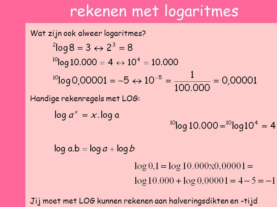 rekenen met logaritmes