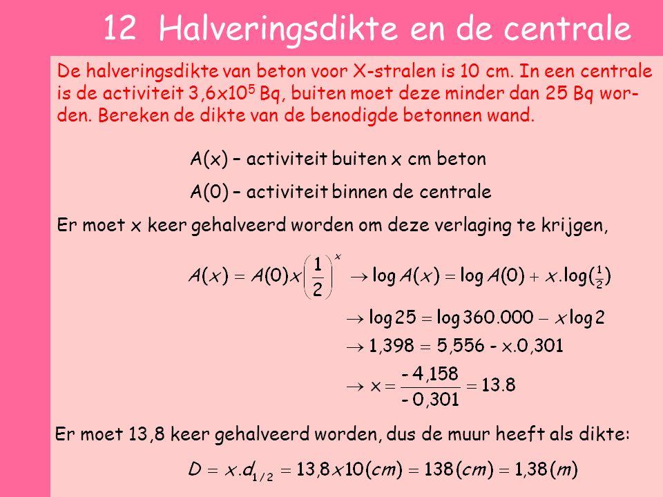 12 Halveringsdikte en de centrale