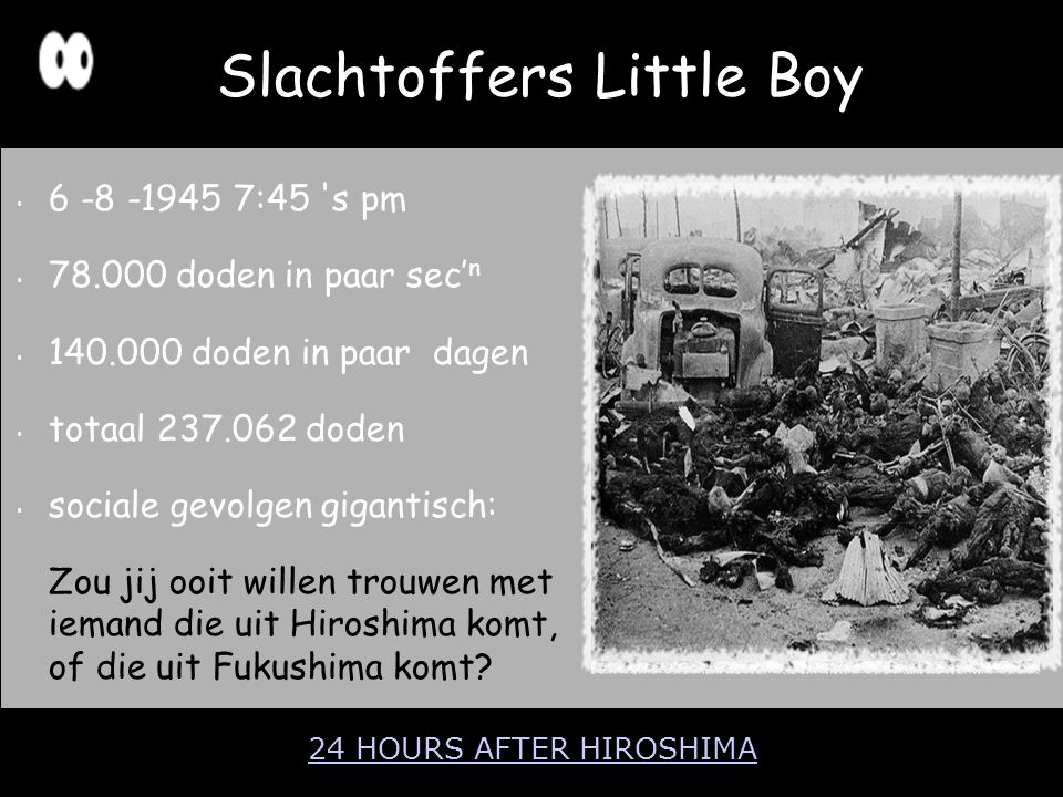 Slachtoffers Little Boy