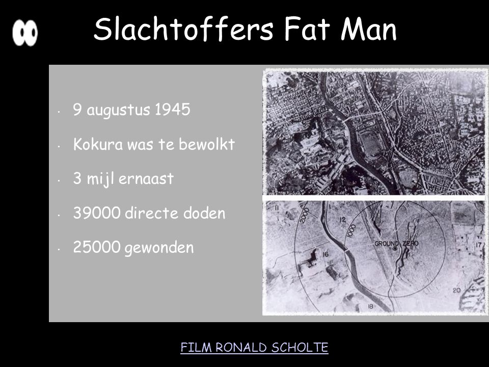 Slachtoffers Fat Man 9 augustus 1945 Kokura was te bewolkt