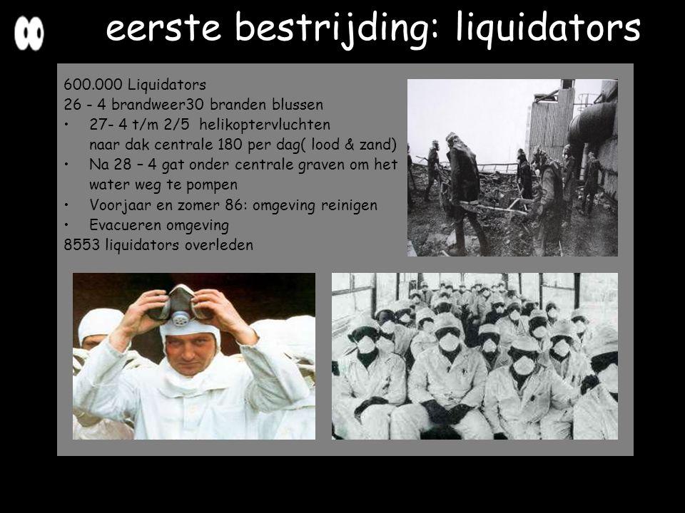 eerste bestrijding: liquidators