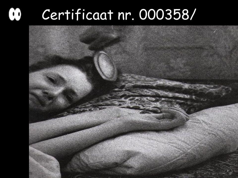 Certificaat nr. 000358/