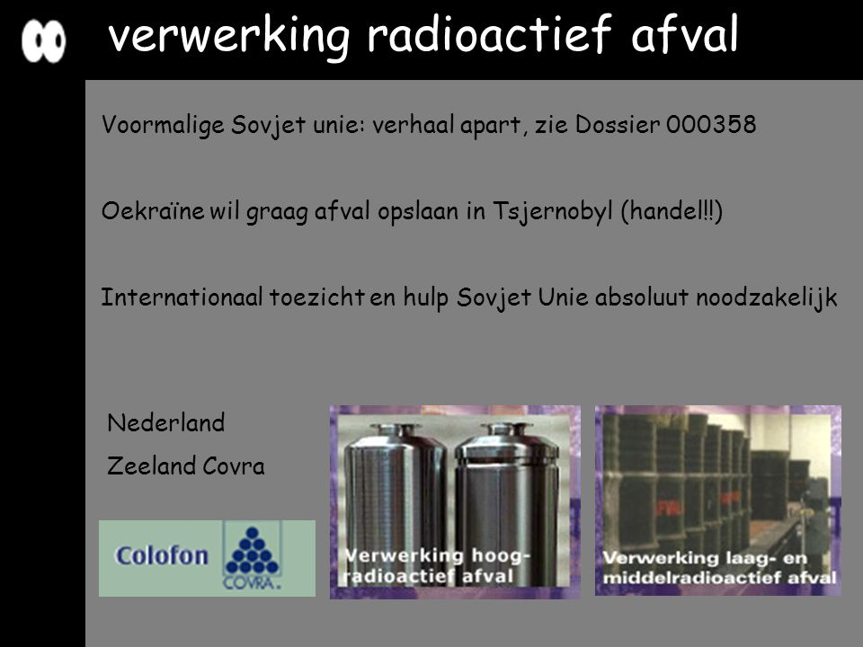 verwerking radioactief afval