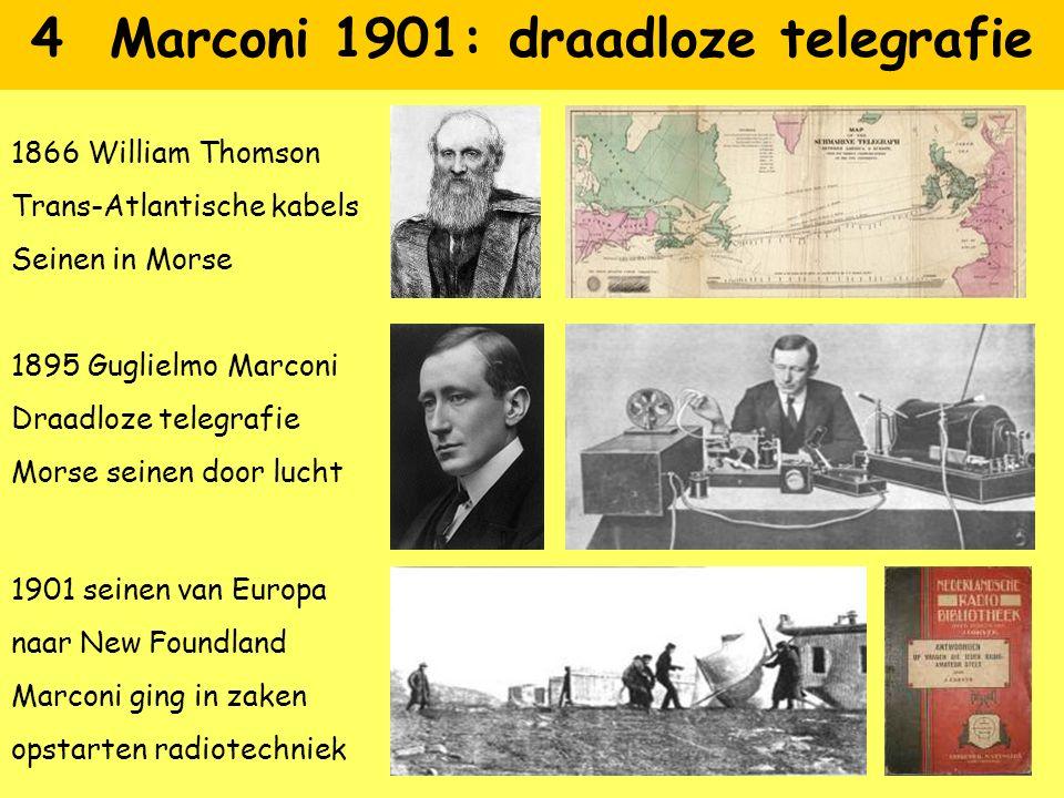 4 Marconi 1901: draadloze telegrafie