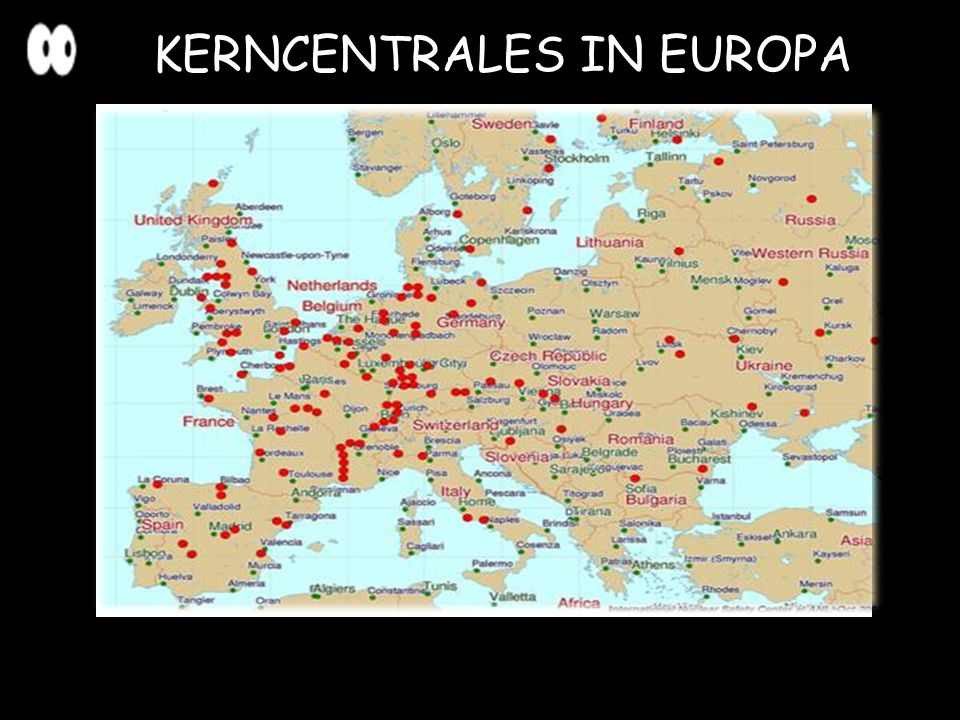 KERNCENTRALES IN EUROPA