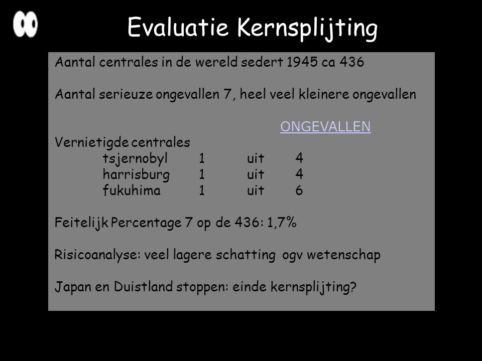 Evaluatie Kernsplijting