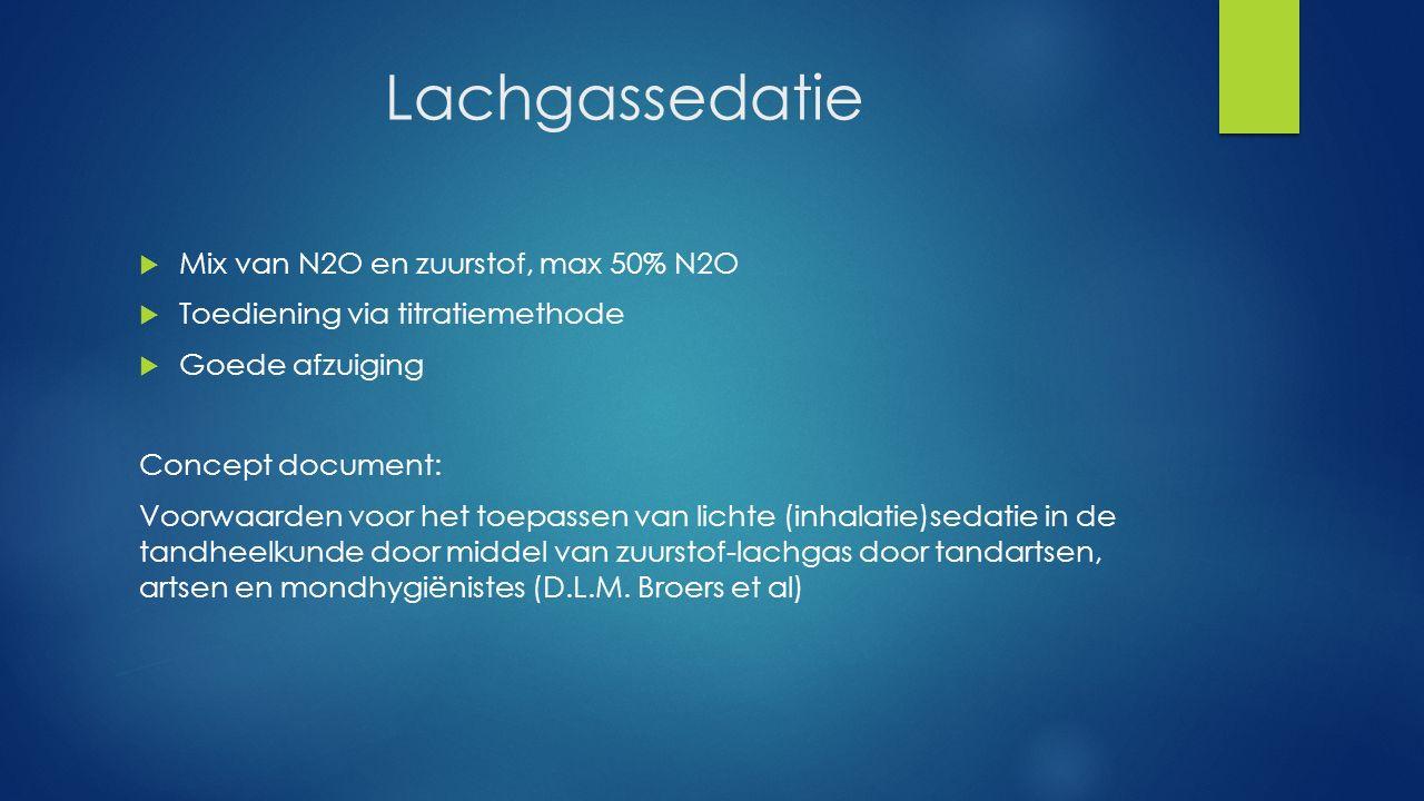 Lachgassedatie Mix van N2O en zuurstof, max 50% N2O