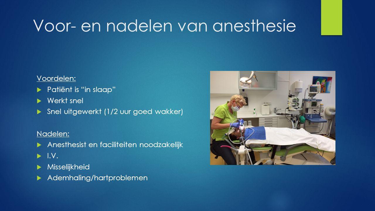 Voor- en nadelen van anesthesie