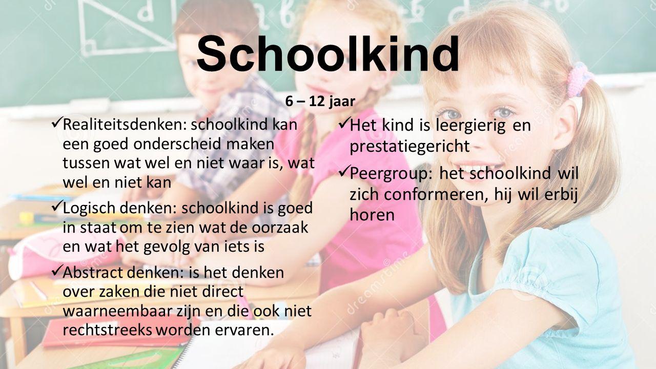Schoolkind Het kind is leergierig en prestatiegericht