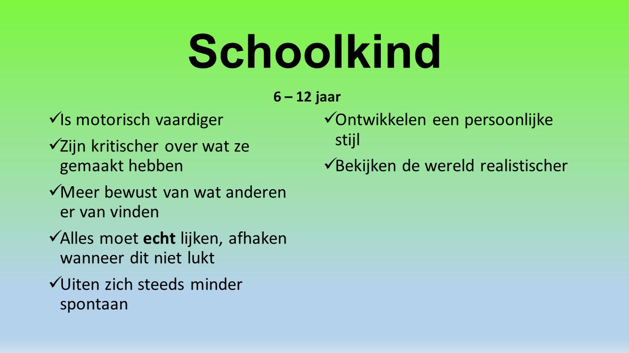 Schoolkind Is motorisch vaardiger