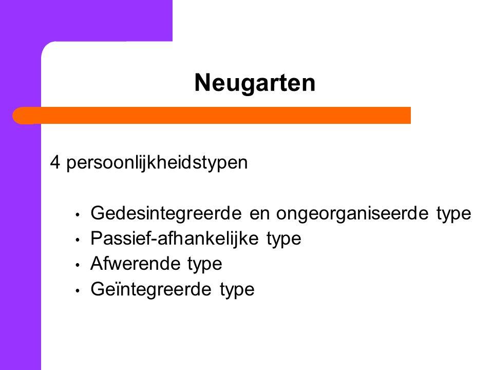 Neugarten 4 persoonlijkheidstypen