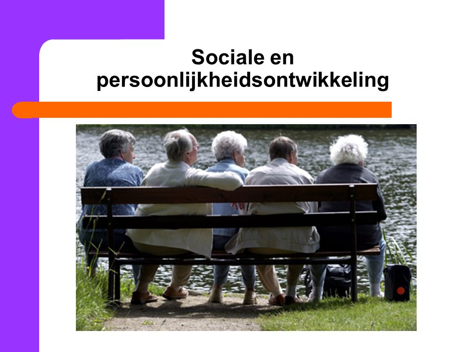 Sociale en persoonlijkheidsontwikkeling