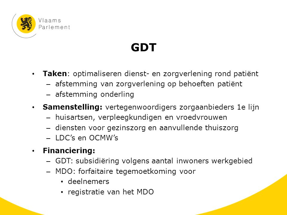 GDT Taken: optimaliseren dienst- en zorgverlening rond patiënt