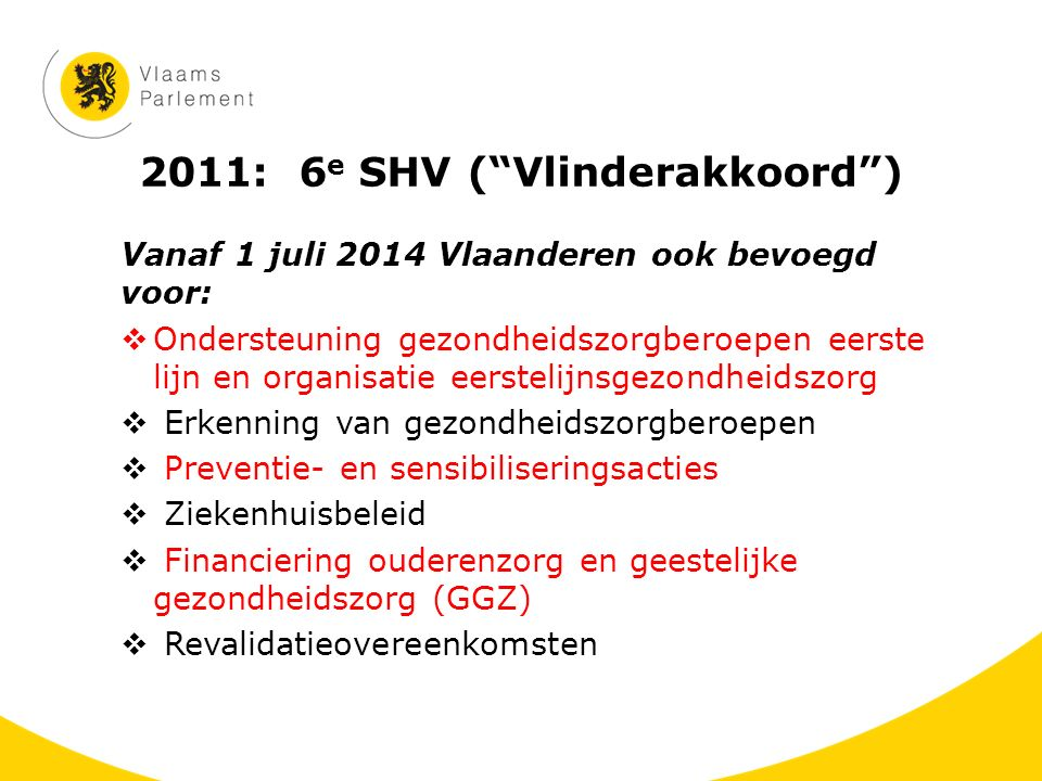 2011: 6e SHV ( Vlinderakkoord )