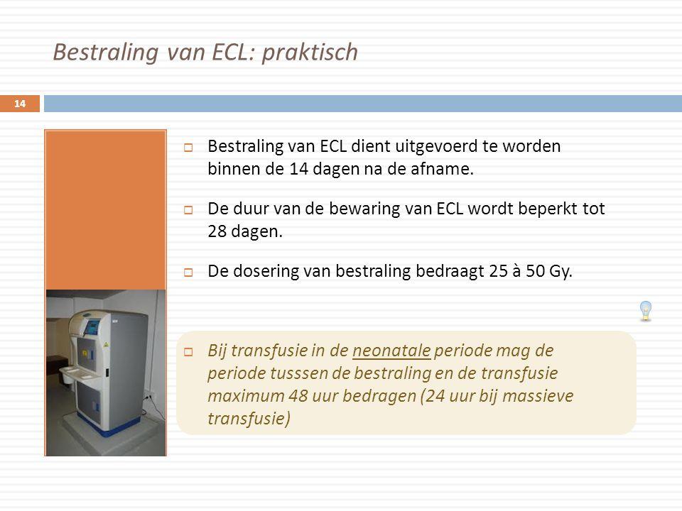 Bestraling van ECL: praktisch