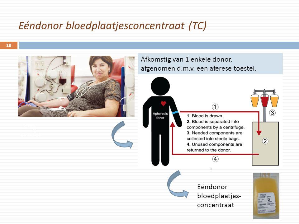 Eéndonor bloedplaatjesconcentraat (TC)