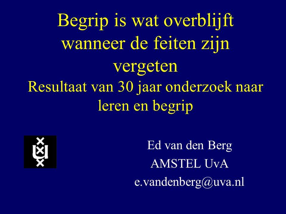 Ed van den Berg AMSTEL UvA e.vandenberg@uva.nl