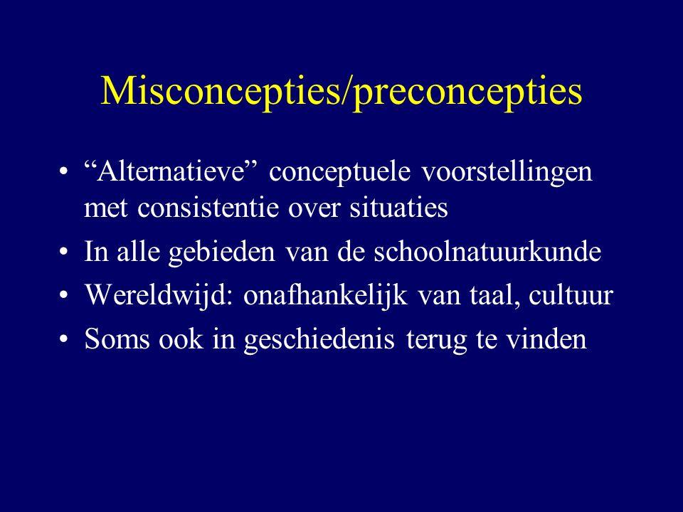 Misconcepties/preconcepties