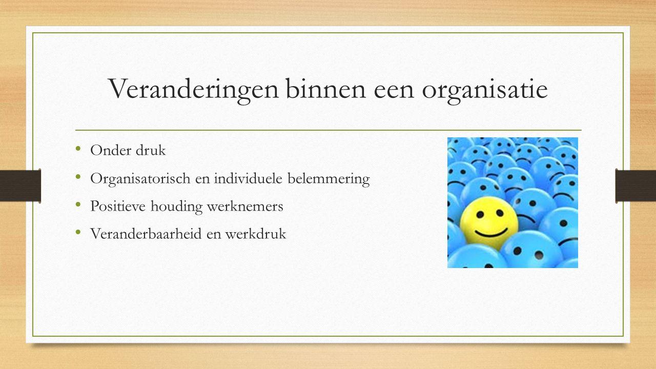 Veranderingen binnen een organisatie
