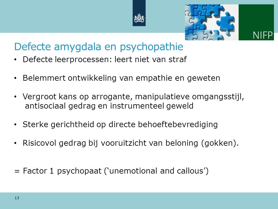 Defecte amygdala en psychopathie