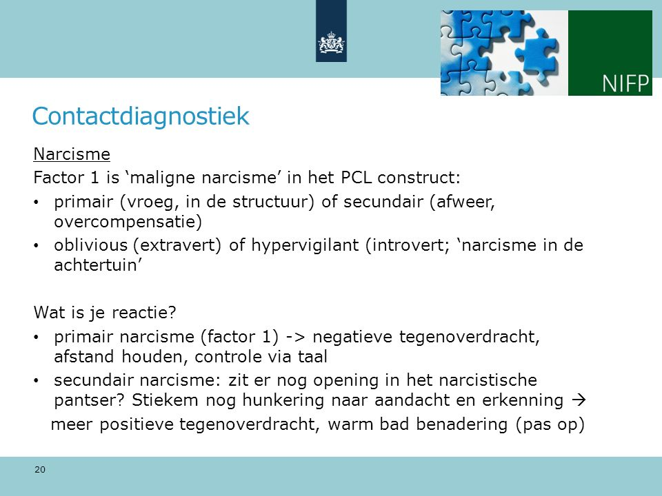 Contactdiagnostiek Narcisme