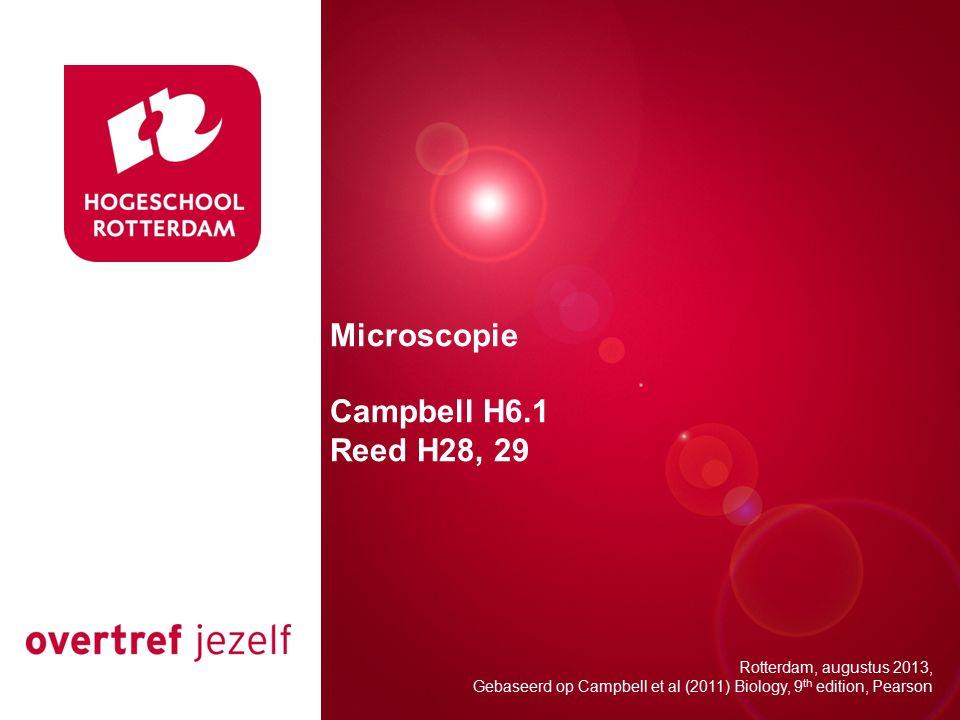 Presentatie titel Microscopie Campbell H6.1 Reed H28, 29