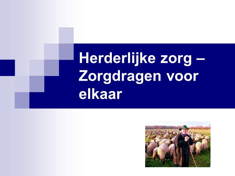Herderlijke zorg – Zorgdragen voor elkaar