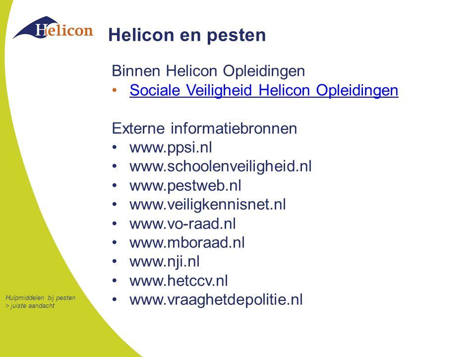 Helicon en pesten Binnen Helicon Opleidingen
