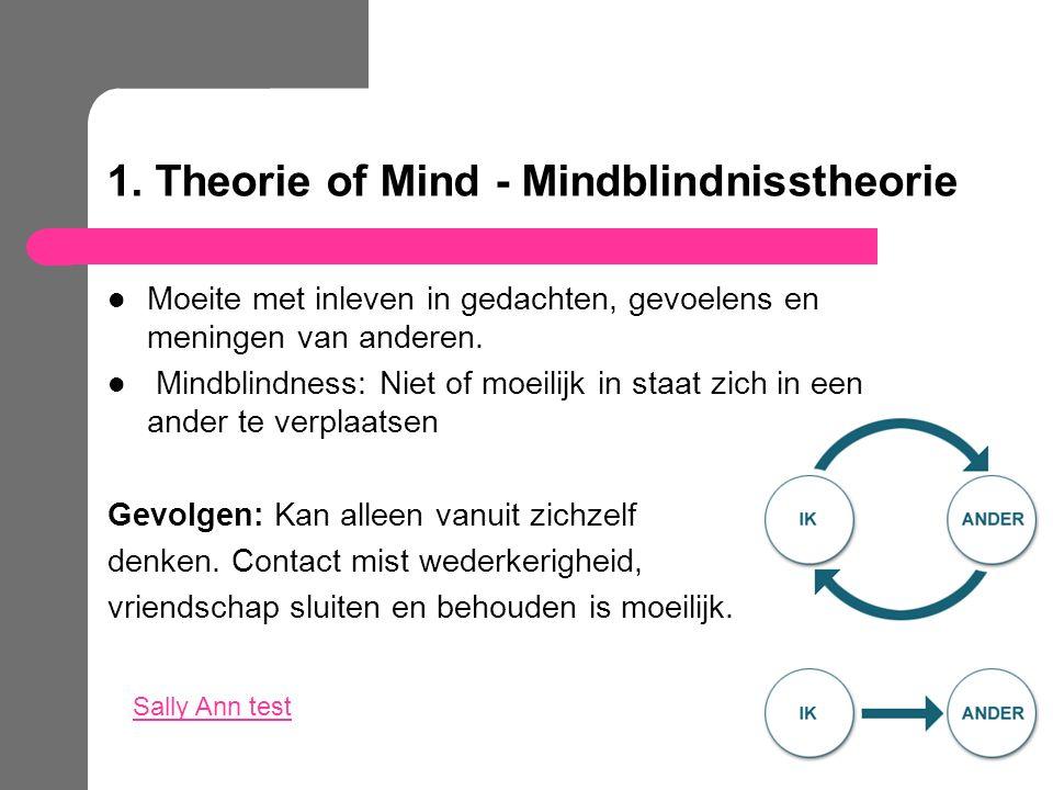 1. Theorie of Mind - Mindblindnisstheorie