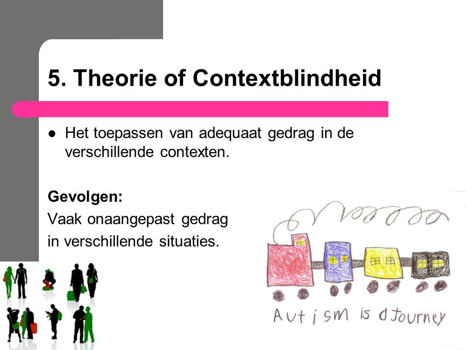 5. Theorie of Contextblindheid