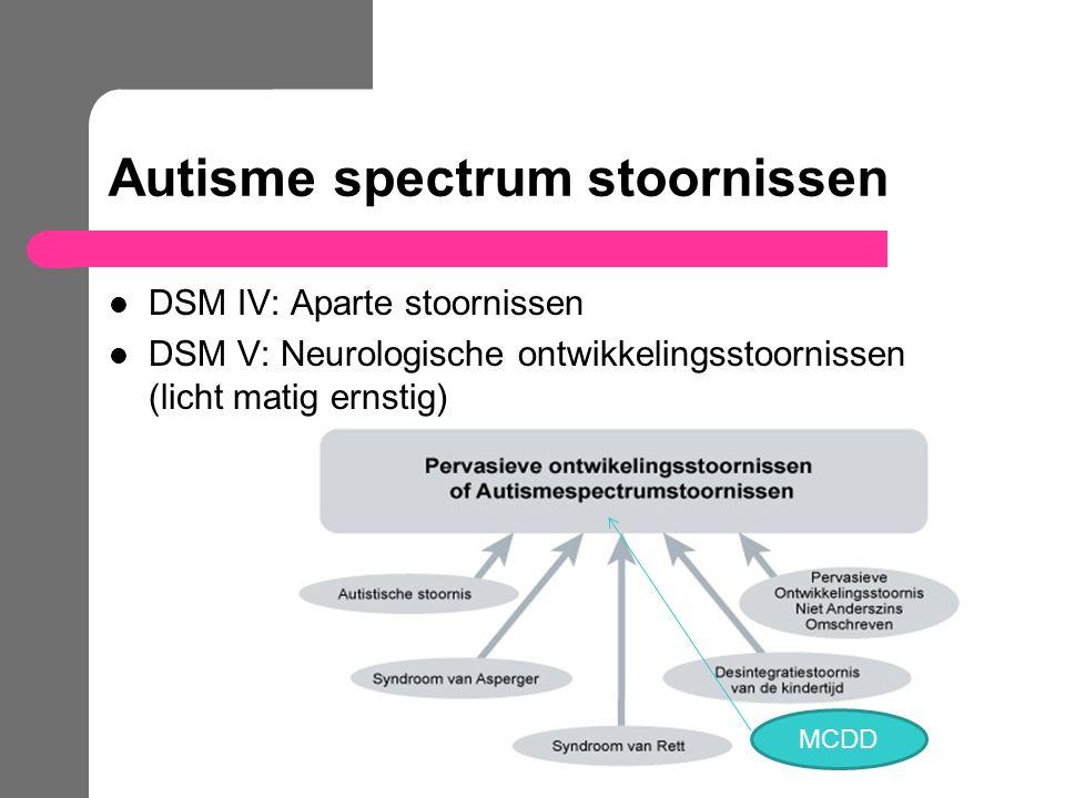 Autisme spectrum stoornissen