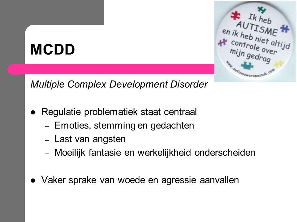 MCDD Multiple Complex Development Disorder