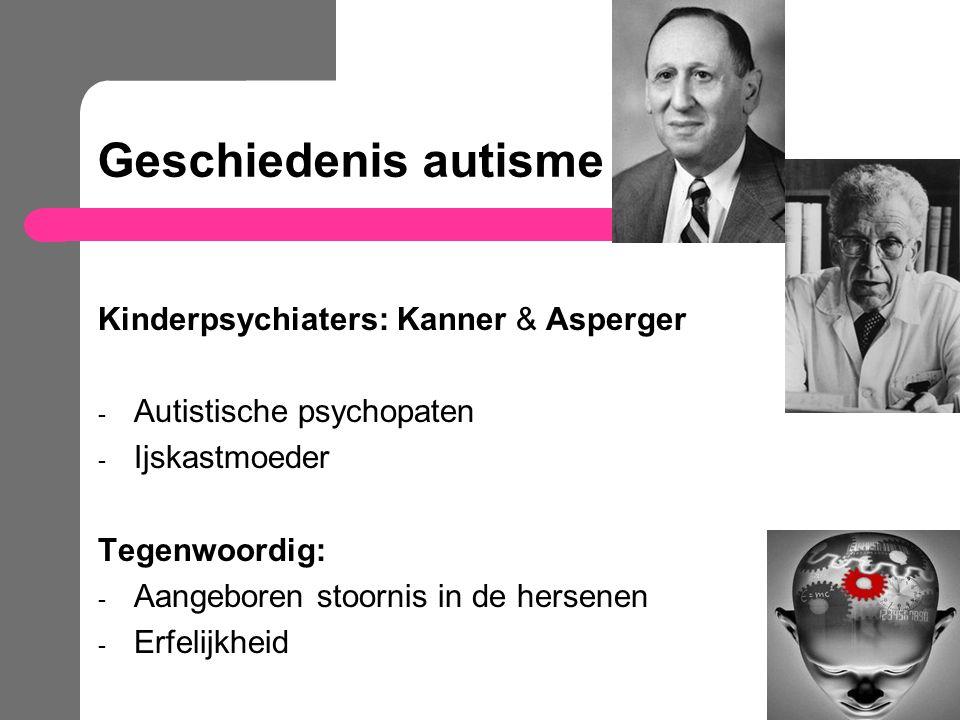 Geschiedenis autisme Kinderpsychiaters: Kanner & Asperger