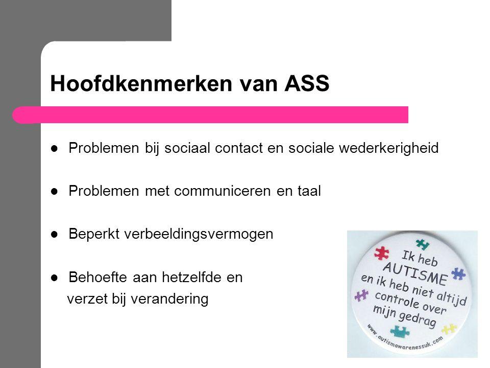 Hoofdkenmerken van ASS