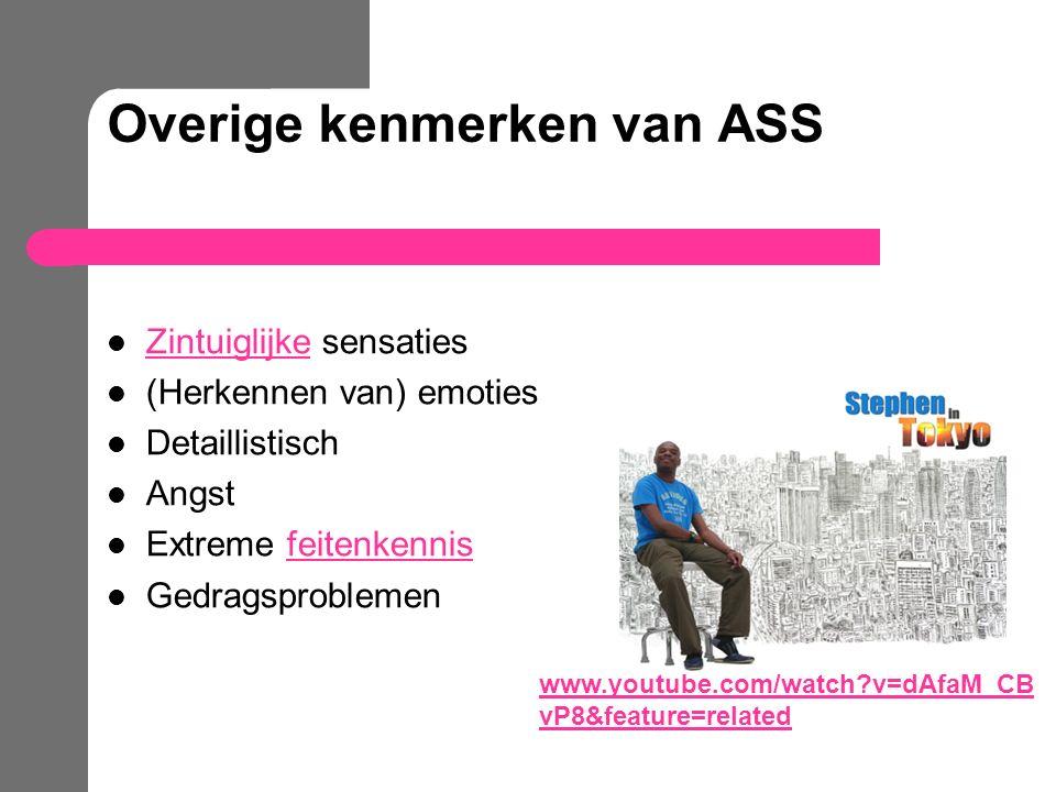 Overige kenmerken van ASS
