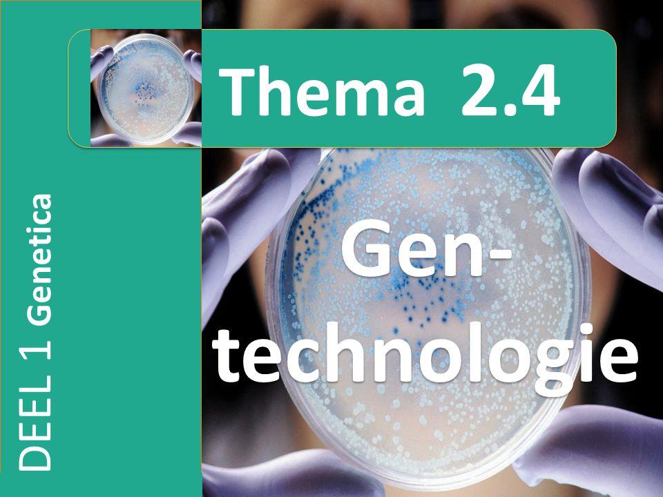 Thema 2.4 Gen-technologie DEEL 1 Genetica