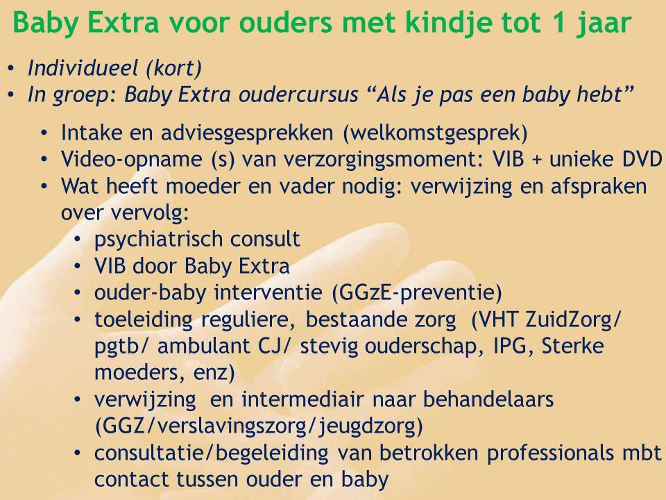 Baby Extra voor ouders met kindje tot 1 jaar