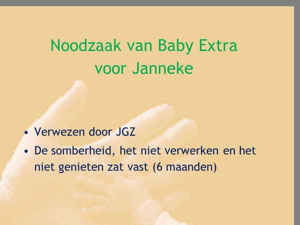 Noodzaak van Baby Extra voor Janneke
