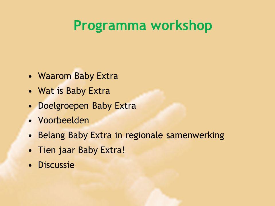 Programma workshop Waarom Baby Extra Wat is Baby Extra
