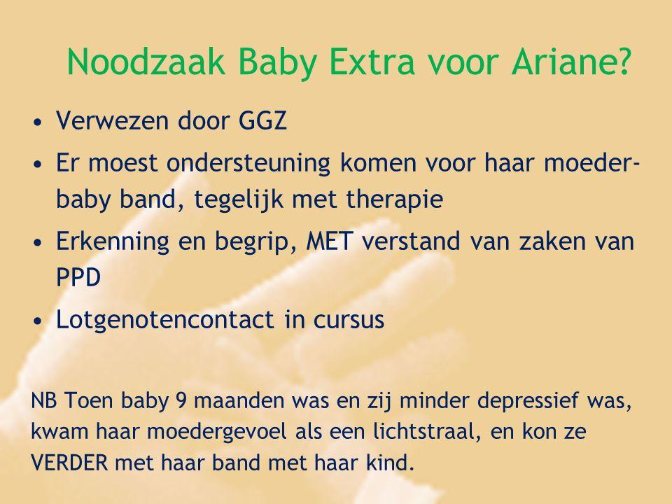 Noodzaak Baby Extra voor Ariane