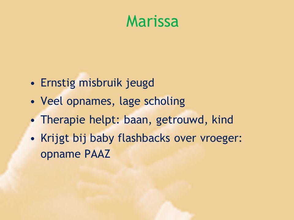 Marissa Ernstig misbruik jeugd Veel opnames, lage scholing