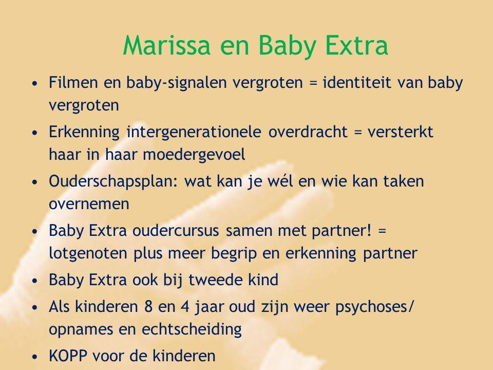 Marissa en Baby Extra Filmen en baby-signalen vergroten = identiteit van baby vergroten.