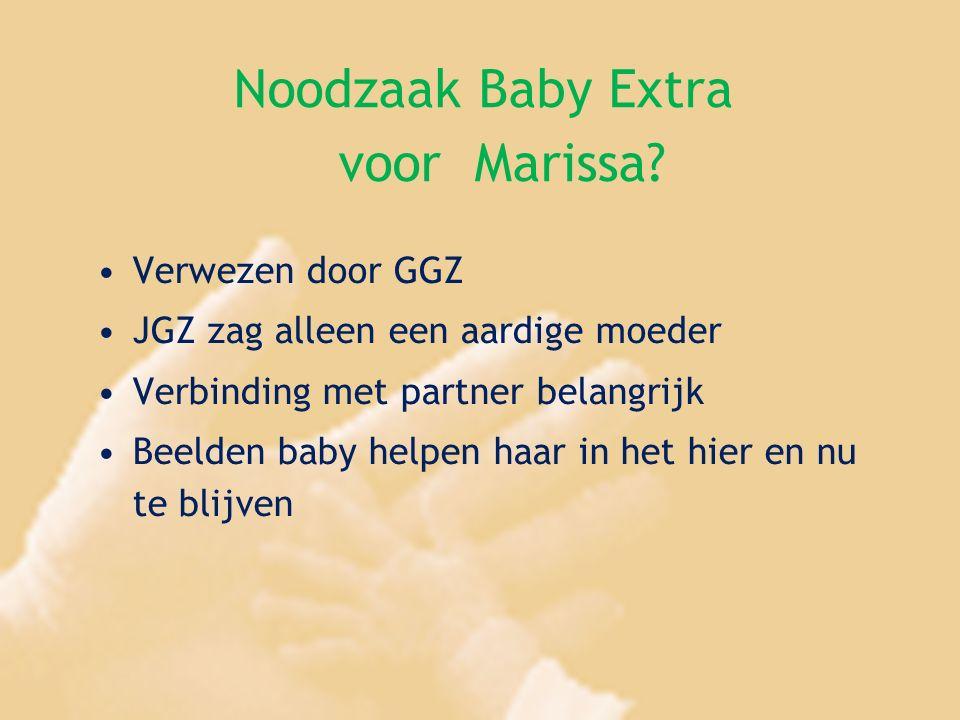 Noodzaak Baby Extra voor Marissa