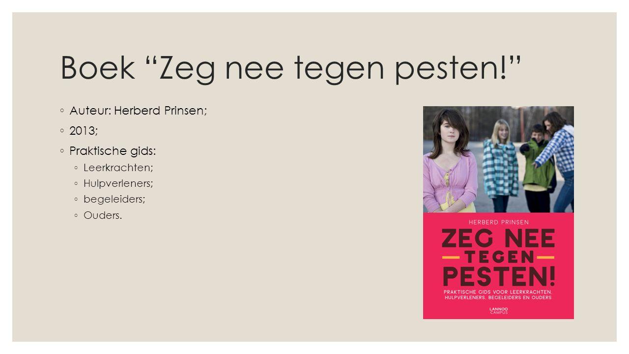 Boek Zeg nee tegen pesten!