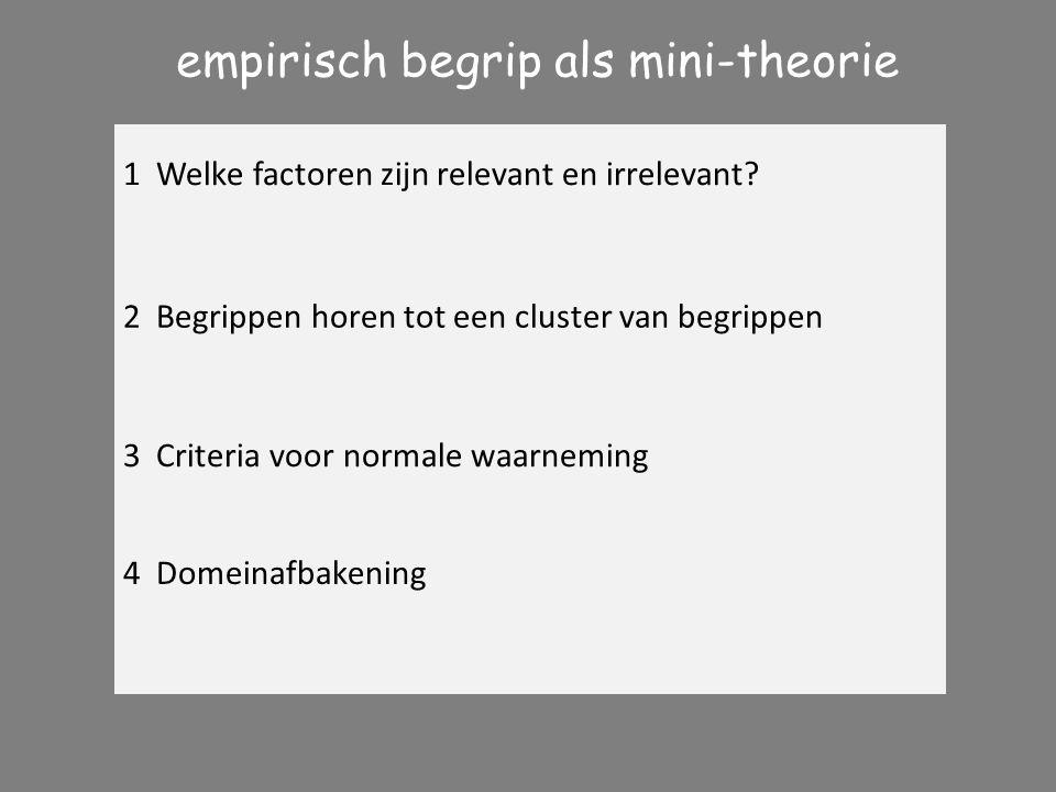empirisch begrip als mini-theorie