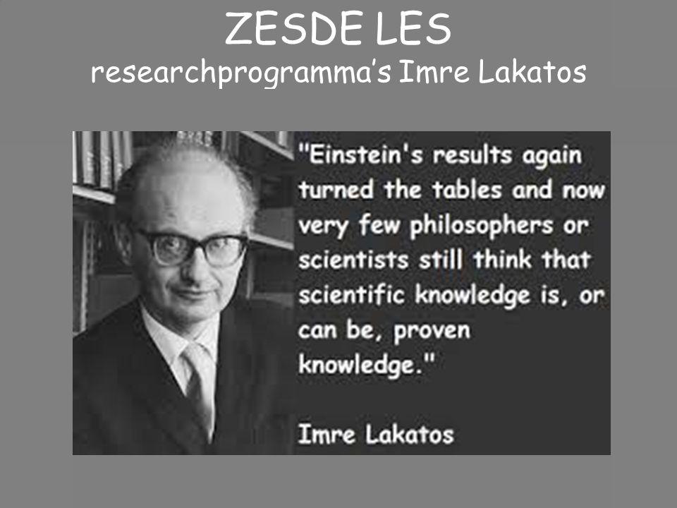 researchprogramma's Imre Lakatos