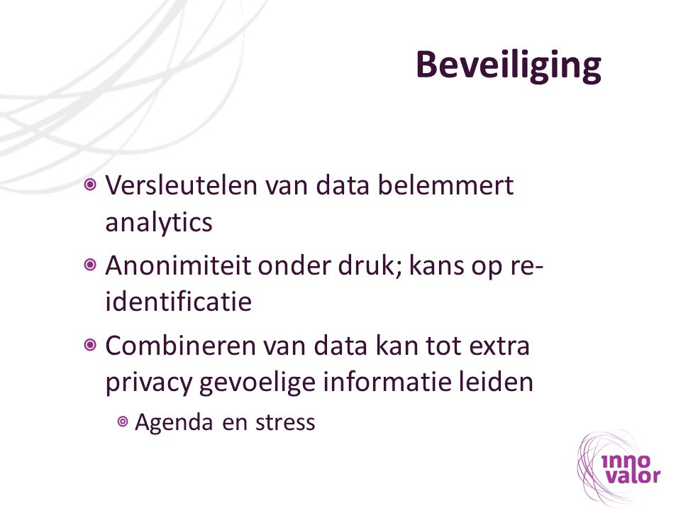 Beveiliging Versleutelen van data belemmert analytics