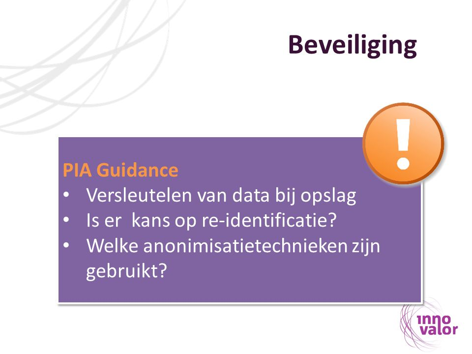 Beveiliging PIA Guidance Versleutelen van data bij opslag