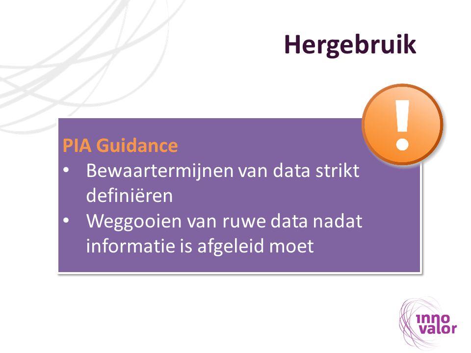 Hergebruik PIA Guidance Bewaartermijnen van data strikt definiëren