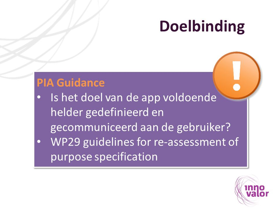 Doelbinding PIA Guidance